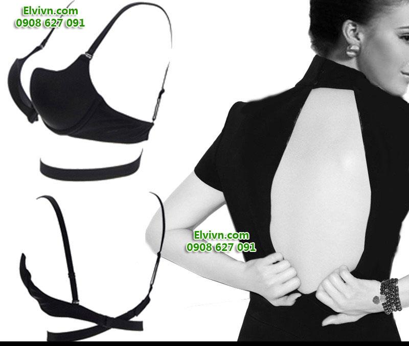 Áo ngực không dây, áo ngực mặc đầm hở lưng, áo ngực nâng ngực siêu dày - 49
